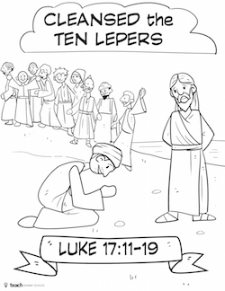 Miracles of jesus cut and color craft pack teach sunday for Jesus heals ten lepers coloring page