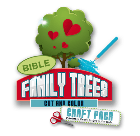 Bible Family Trees Cut And Color Craft Pack Teach Sunday School