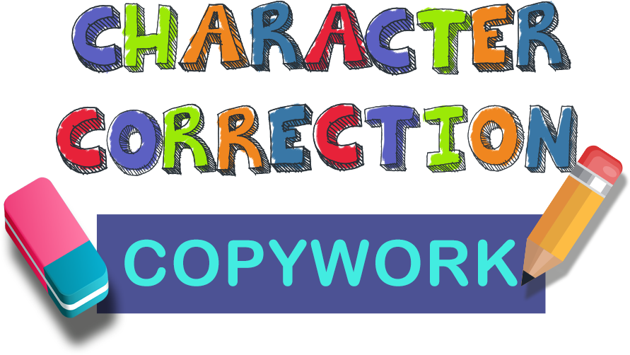 Character Correction Copywork