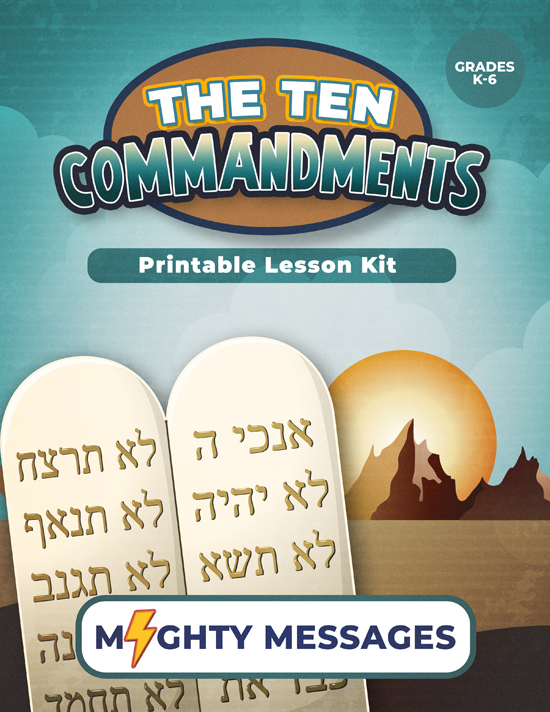 Ten Commandments Lesson Kit: Includes crafts, games, worksheets, lesson outline, scripture, certificate, etc.