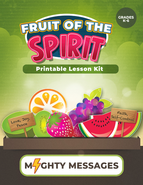 Fruit of the Spirit Lesson Kit: Includes crafts, games, worksheets, lesson outline, scripture, certificate, etc.