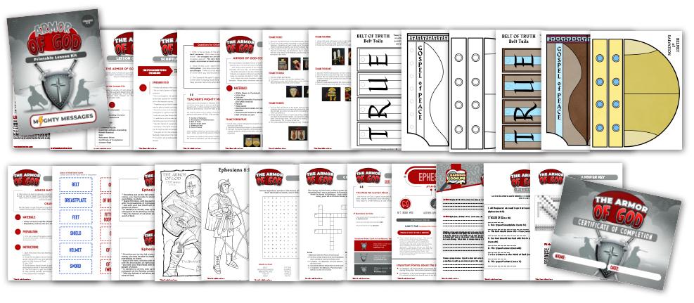 Armor of God for Kids Bible Lesson Kit