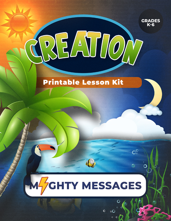 Creation Lesson Kit: Includes crafts, games, worksheets, lesson outline, scripture, certificate, etc.