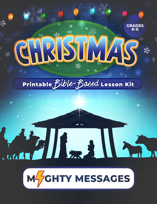 Christmas Sunday School Lesson Kit: Includes crafts, games, worksheets, lesson outline, scripture, certificate, etc.