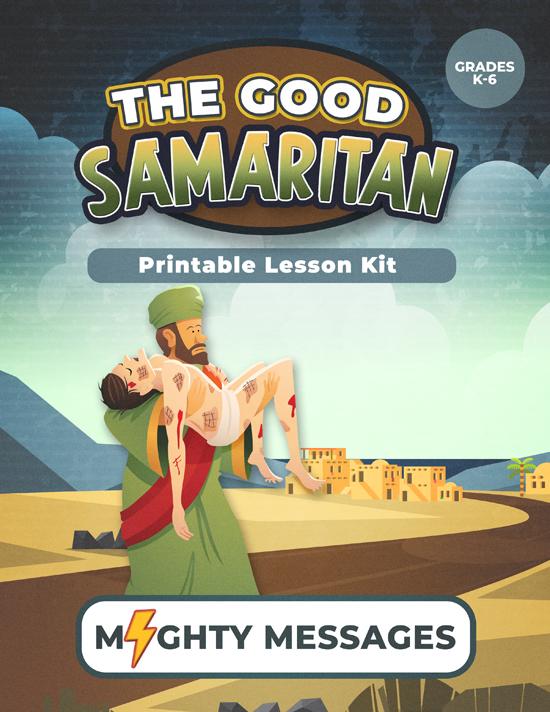 Good Samaritan Lesson Kit: Includes crafts, games, worksheets, lesson outline, scripture, certificate, etc.
