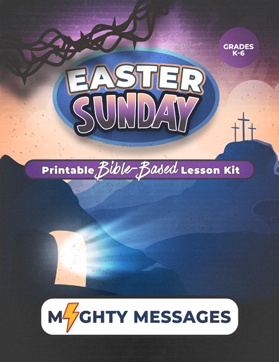 Easter Sunday- Sunday School Lesson Kit: Includes crafts, games, worksheets, lesson outline, scripture, certificate, etc.