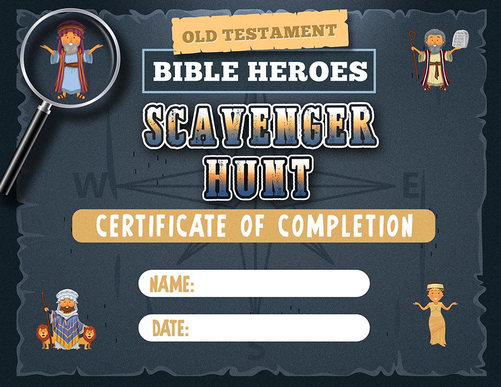 Scavenger Hunt Certificate