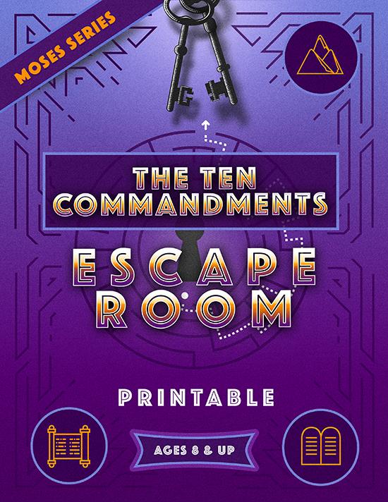 Ten Commandments Escape Room Printable