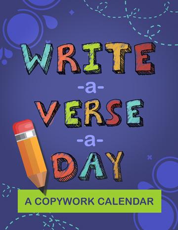 Write-a-Verse-a-Day Copywork Calendar